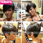 Short Cut Pixie Human Hair Wigs Black and Natural Color Glueless Wigs for Women