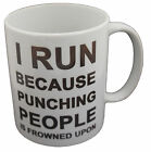 Running Punching People Fitness Gym Slogan Mug Tea Coffee Gift