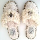 Pretty You London Elegant Women Thong Slippers Embellished, Brides, S,M,L,XL