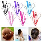 High Quality 4 Set Tail Hair Braid Ponytail Styling Maker Clip Tools Accessories