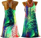 Dress Backless Bijoux Multicolored evening summer sexy chic HANI Charleselie94