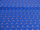 NEW!  Blue Yaught SHIP Sailing BOAT Nautical PolyCotton FABRIC Reduced Prices