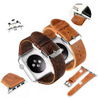 Vintage Genuine Leather Strap Watch Band For Apple Watch Series 1&2 42mm 38mm