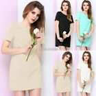 New Elegant Women Tunic Party Sheath Pencil Shift Dress Lady Top Size 6-14 N98B
