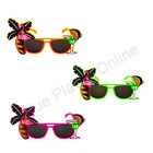 3X PALM TREE FLAMINGO SUNGLASSES HAWAIIAN SUMMER FANCY DRESS COSTUME HEN PARTY