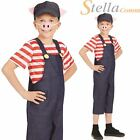 Child Three Little Pigs Costume Boys Girls Pig Fancy Dress Kids Book Week Outfit