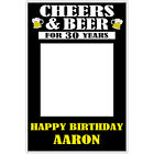 Cheers and Beer Selfie Frame Photo Booth Prop Poster (any age)