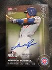 AUTOGRAPH ON CARD 34 TO 99 -ADDISON RUSSELL INCHES CUBS CLOSER TO WORLD SERIES