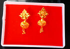 22 ct Gold Plated Earrings Indian Ethnic Jewellry Hoop Creole Earring hu38