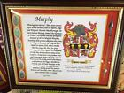 Bagnell to Barnard - Framed Coat of Arms & History - 1,000,000 names available