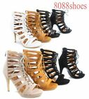 Fashion Strappy Lace Up High Heel Platform Booties Sandals Shoes Size 5 - 10 NEW