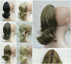 7 colors cute Wavy 12 inches Claw Clip Extension ponytail hair pieces wig #KIWI