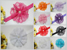 Baby Hair Band Lace Large Flower Headband Kids Girls Accessories Photo Prop