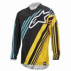 Alpinestars Mens Racer Supermatic MX Jersey - Yellow/Teal Motocross Offroad Trai