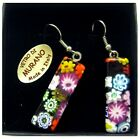 Earrings 3 cm / 1.2 Inches pendant craft MURANO glass by MORBIDEIDEE Venice