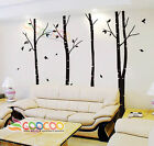 Wall Art Decor Removable Vinyl Decal Sticker Large Tree Blowing In The Wind 90""