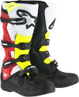 Alpinestars Mens Black/Red/Yellow Fluo Tech 5 Dirt Bike Boots MX