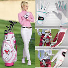 1 Pair Womens Genuine Leather Breathable Outdoor Sports Soft Golf Cycling Gloves