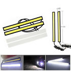 6x 12v Led Strip Drl Daytime Running Lights Fog Cob Car Lamp White Day Driving