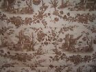 "Thibaut ""Chestnut Toile"" pheasants fabric by the yard various colors"