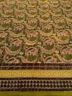 "Anokhi Green Paisley & Floral Cotton Tablecloth, 60""x98"""