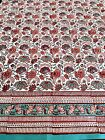"Anokhi Red & Turquoise Floral Cotton Tablecloth, 70""x108"""