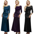 2017 fashion Women 3/4 Sleeve Padded Party Wedding Cocktail Party Evening Dress