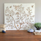 White Timber Wall Panel with Laser Cut Design/Tree & Bird/Ready to Hang Wall Art