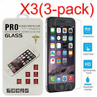 """3Pcs Genuine Tempered Glass Films for Apple iPhone 6 6S 4.7"""" Screen Protectors"""