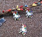 lots Popular white unicorn Metal Charm Pendant DIY Necklace Jewelry Making