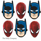 Spiderman & Batman Superhero Boys Birthday Party Masks Favors 6-36 guests