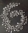 """Long Hairvine with swarovski elements crystals in ab & clear (12"""", 18"""" or 24"""")"""
