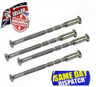M4 SCREWS CONNECTING BOLTS & SLEEVES FOR DOOR HANDLES ROSES & ESCUTCHEONS-BRASS