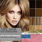 USA STOCK 20'' Seamless Tape In Skin Weft Brizilian Remy Human Hair Extensions