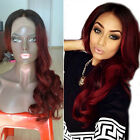 1B/Red Human Hair Full Lace Wig For Black Women New Lace Front Remy Human Hair