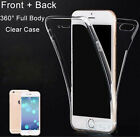 Clear 360° Full Body TPU Soft Crystal Case Cover Fr iPhone 7/Plus,Galaxy S7 edge