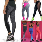 Hot Womens Ladies Yoga Fitness Leggings Running Gym  Sports Pants Trousers UK