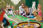 Gorgeous Art Needlepoint Canvas Doggies In Gambling House Vivid Expressions
