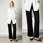 Elvie Leo Designer Label Pants Womens Women Ladies Size Fit Pant Linen Wide Leg