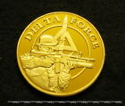 US ARMY DELTA FORCE 24kt Plated Challenge Coin RANGERS SPECOPS Special Forces