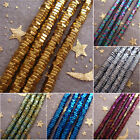 2-4mm Gold Silver Rainbow Blue Violet Green Coppery Hematite Stone hexagon Beads
