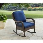 Resin Wicker Cushioned Patio Rocker Chair Outdoor Home Seating Furniture Garden