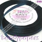 1 - 3 reels of 25 yards Silky Satin Ribbon 6 mm 1/4 inch Mid Navy Blue 22 m 5189