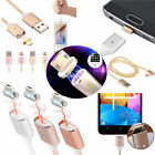 Micro USB Braided Charging Cable Magnetic Adapter Charger For Android Phone 2.4A