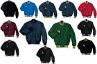 MEN'S MID-WEIGHT, QUILTED LINED, SNAP FRONT, BASEBALL JACKET, WIND/WATER, S-5XL