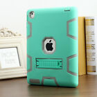 Shockproof Heavy Duty Rubber w/ Hard Stand Case Cover For Apple iPad 2/3/4 +Film
