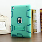 Shockproof Heavy Duty Rubber Hard Stand Case Cover For Apple iPad 2/3/4 +Film