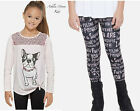 NWT JUSTICE Girls 6 7 Pink Sequin Puppy Tee & Printed Leggings Outfit