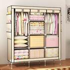 Simple Clothes Closet Portable Wardrobe Storage Organizer With Shelves Cabinet