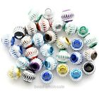 100pcs Mixed Color Aluminium Engraved Loose Spacer Beads 6/ 8/10mm
